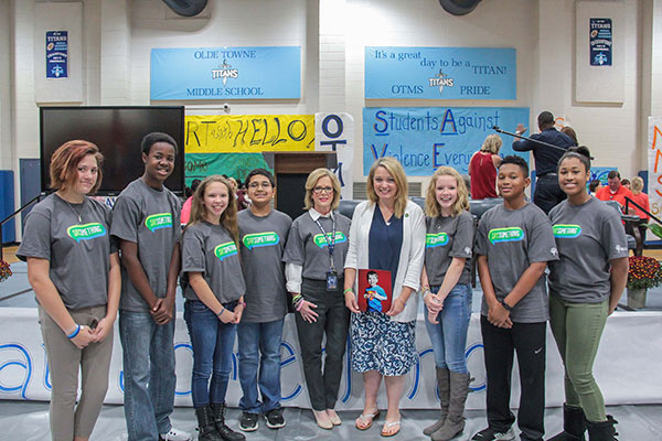 Nicole Hockley and SAVE Promise Club students