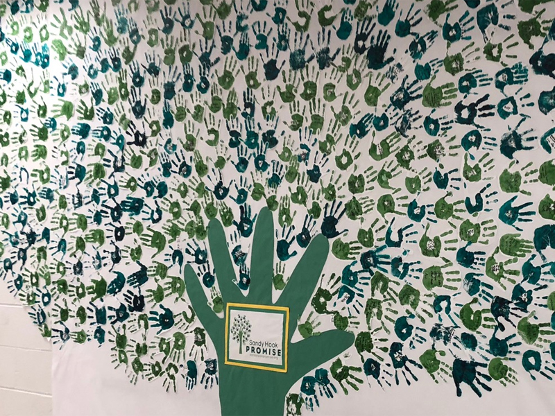 SHP tree made of handprints
