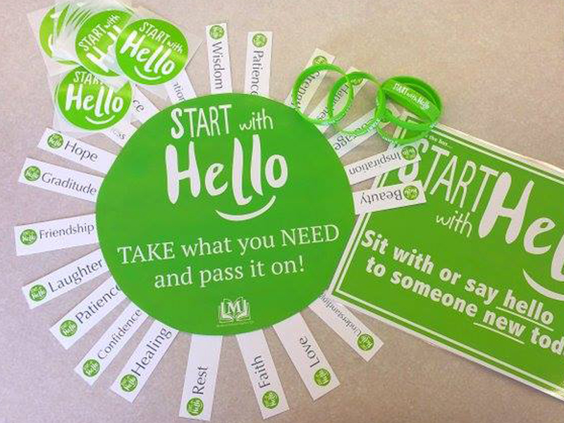 Start With Hello take what you need and pass it on circle