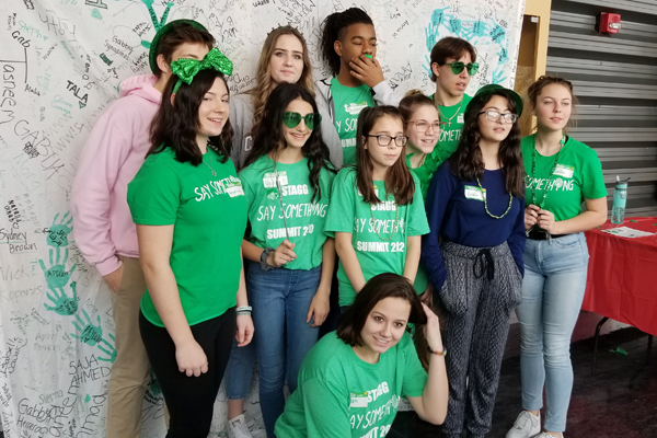 Stagg High School Summit attendees show their Sandy Hook Promise spirit.