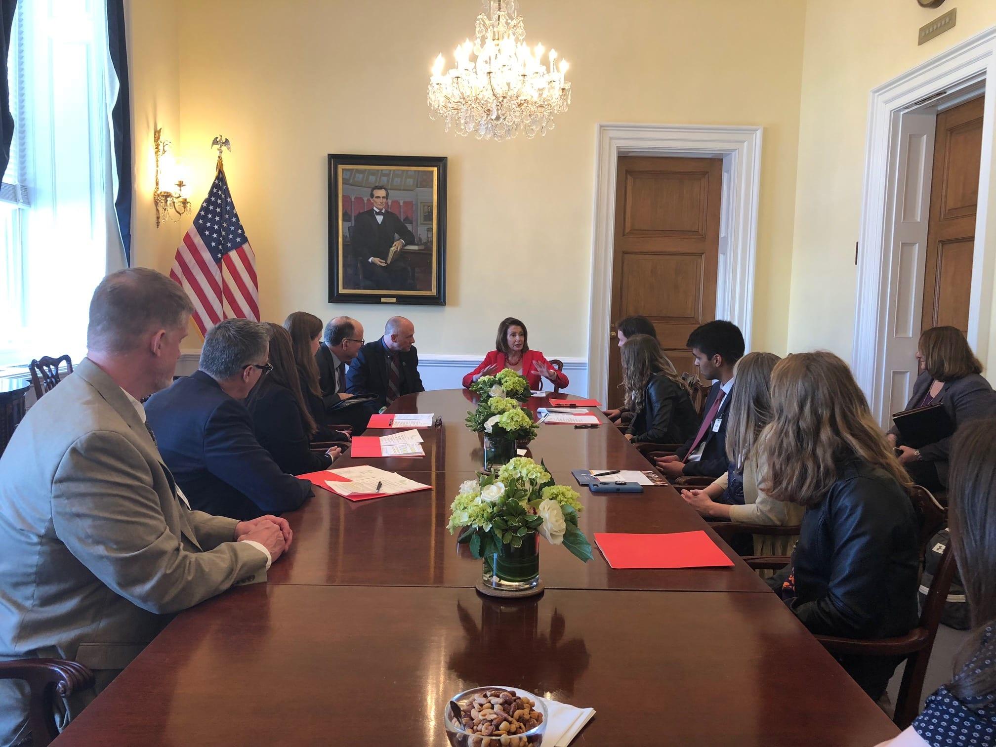 SHP Activists meet with Nancy Pelosi