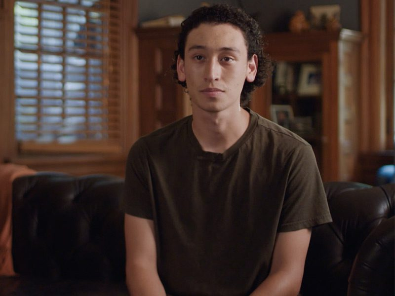 Carlitos barricaded himself behind a door in order to survive the mass shooting in Parkland. 17 students were killed.
